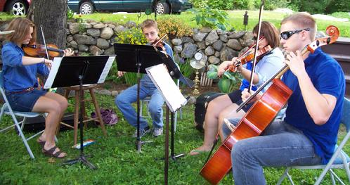 Live Music by the Oxford Hills High School String Quartet